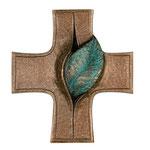 Bronzekreuz Sondertönung mit Blatt