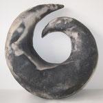 Klangspirale, ca 22 cm, Rauchbrand
