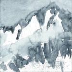 Pyrenäen, Aquarell 15x15 cm