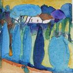 Bibbona, Aquarell 25x25 cm