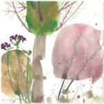 Kiesgrube Rubigen, Aquarell und Farbstift 15x15 cm unverkäuflich