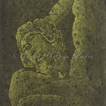 "Dying Slave (Green) - 8"" X 10"" - Edition of 15 - {SOLD}"