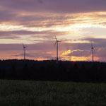 Windpark Hornberg im Abendlicht, Sabine Moosmann