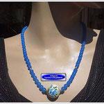 Glasperlenkette mit Tensha-Perle