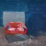 Canapé rouge, 40cm x 40cm, huile/toile, 2012