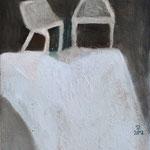 Deux chaises, 20cm x 10cm, huile/toile, 2012
