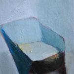 Fauteuil bleu, 75cm x 55cm, huile/toile, 2012