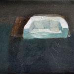 Canapé blanc, 40cm x 20cm, huile/toile, 2012