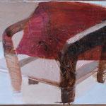 Fauteuil en bois, 55cm x 120cm, huile/toile, 2012
