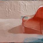 Fauteuil rouge, 55cm x 120cm, huile/toile, 2012