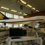 Scalenachbau eines Jumbo-Jets