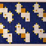 """""""66 boxes"""" parte XI, mosaico in pasta vitrea a legante epossidico, 37x28x1 cm, 2016"""