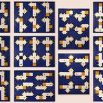 """""""66 boxes"""", mosaico in pasta vitrea a legante epossidico, 148x93 cm circa, 2016"""