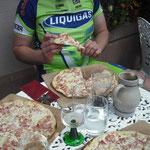 Die verdiente Tarte Flambé au Munster - Bon apetit