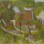"""""""Lüttenort"""", 2013, Kasein, 50 x 60"""