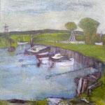 """""""Hafen Zempin"""", Kasein, Hartfaser, 60x50, 2012"""