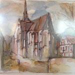 """Kirche in Ilfeld"", 2008, Mischtechnik"