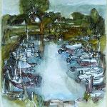 """""""Hafen Zempin"""", Aquarell, 2012, 50x60"""