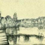 """""""Prendener See"""", 1986, Kugelschreiber, A4"""