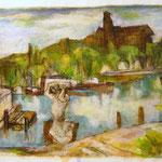 """Potsdamer Landschaft"", 1998, Acryl, 69 x 49"