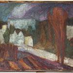 """""""Blick aus Muttis Fenster"""", 1991, Öl, 33 x 24 (1 von 3)"""