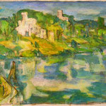 """Potsdamer Landschaft"", 1998, Acryl, 69 x 50"