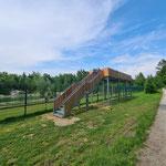 Besuchertribüne Bärenpark, die Holzvertäfelung wurde nich von uns gefertigt.