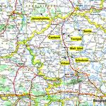 Landkarte Vojvodina