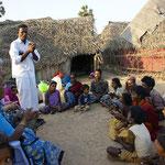 Versammlung mit Evangelist John, bei Chennai