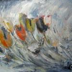 Tulpen im Wind_Acryl_66x95cm_1998