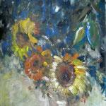 Sonnenblumen_Acryl 8x100cm_1997         verkauft