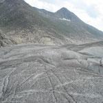 Zurück zu Märjela auf dem Aletschgletscher