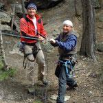 Willy & Chrigi in der Bietschischlucht