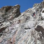 Abseilpiste vom Grünegghorn in Richtung Finsteraarhornhütte