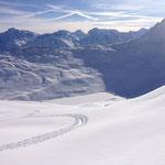Super Schneeverhältnisse im Aletschgebiet
