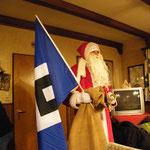 aber was ist das: der Weihnachtsmann stand plötzlich in der Tür