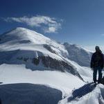 Summit of Mont Maudit.