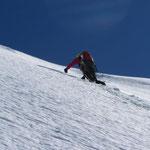Richard on the final slope.