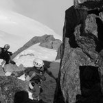 Last step to Mont Blanc du tacul.