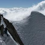 Snow climbing extreme.