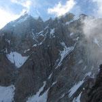 Mont Maudit and the Küffner Ridge below