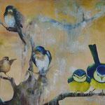 2013_Vogelkonzert_70 x 200cm_Öl_Baumwolle