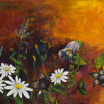 2019_Sommerblüten_90 x 150cm_Acryl_Baumwolle
