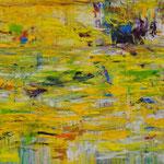 2014_Ohne Titel_ 210 x 110cm_Acryl und Öl_ Baumwolle
