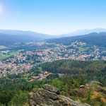 Der Blick vom Silberberg auf Bodenmais...in fünf Minuten sind Sie von der Wohnung am Fuß des Berges...