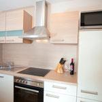 Die Küche - komplett ausgestattet inkl. Mikrowelle