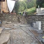 Mur soutènement pierre à joints