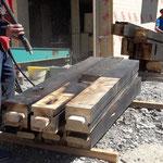 Sablage bois brûlé contrecollé