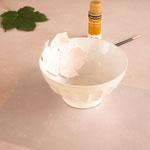 In einer Schüssel in Form bringen und im Ofen nach Anleitung aushärten