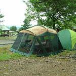 林間のテントサイト(1区画5.5m*8.0m程度)